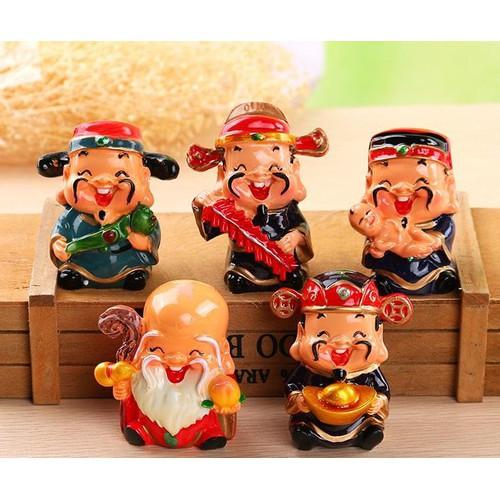 Bộ tượng trang trí 5 ông thần tài may mắn