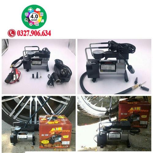 Máy bơm lốp, bơm hơi điện ô tô xe máy mini