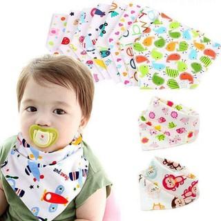 Set 5 Khăn yếm tam giác cotton cúc bấm cho các bé từ sơ sinh đến 5 tuổi - TM0105_YEMTAMGIAC thumbnail