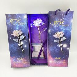 hoa hồng pha lê phát sáng quà 20-10