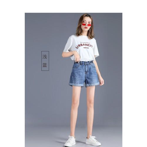 Quần short jean nữ dáng rộng kiểu dáng xinh xắn