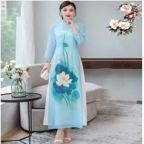 Sét bộ áo dài xuân oder002