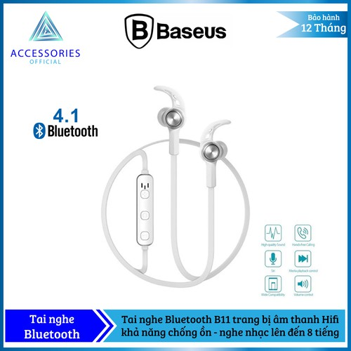 Tai nghe bluetooth sport baseus b11 licolor magnetic kết nối buetooth 4.1