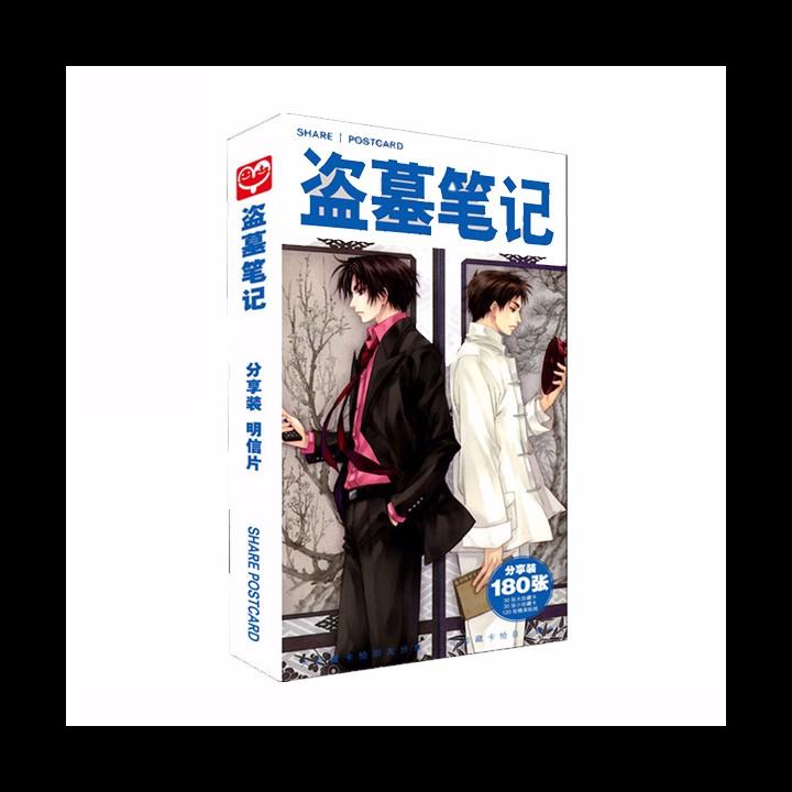 Postcard đạo mộ bút ký ver 2 hộp ảnh bộ ảnh có ảnh dán sticker lomo bưu thiếp anime