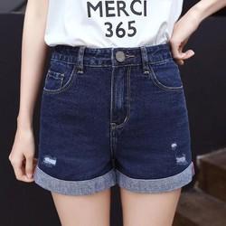 Quần shot jean nữ co giản Quần đùi nữ ngắn 40-65kg