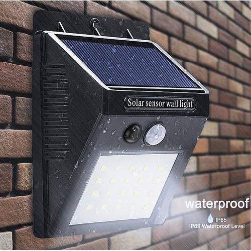 Đèn led gắn tường cảm ứng năng lượng mặt trời