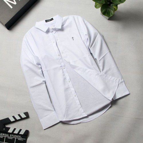 Áo sơ mi trắng nam hn401 shop hân nhi | áo sơ mi cặp | áo nam