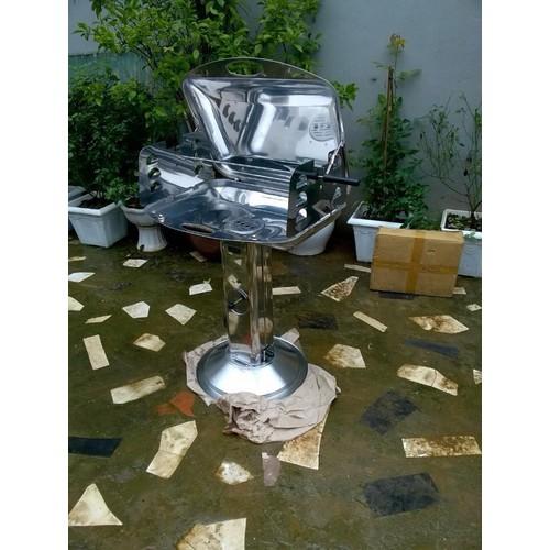 Bếp nướng sân vườn inox trắng phù đổng ck585 inox