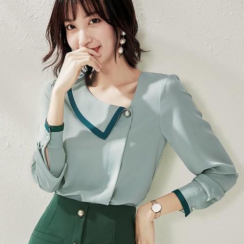 A193003 -áo sơ mi nữ dài tay hàng nhập