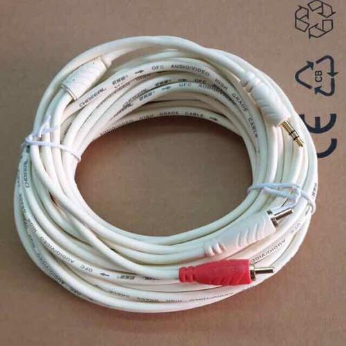 Dây lấy nhạc-cắm ra loa hoặc audio 1 đầu ra 2 đầu hoa sen dây tốt chống nhiễu lọc tạp âm bh 6 tháng
