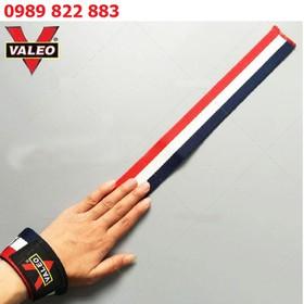Băng quấn cổ tay có dây 3 màu Valeo - Băng quấn cổ tay tập gym - Băng quấn cổ tay 3 màu
