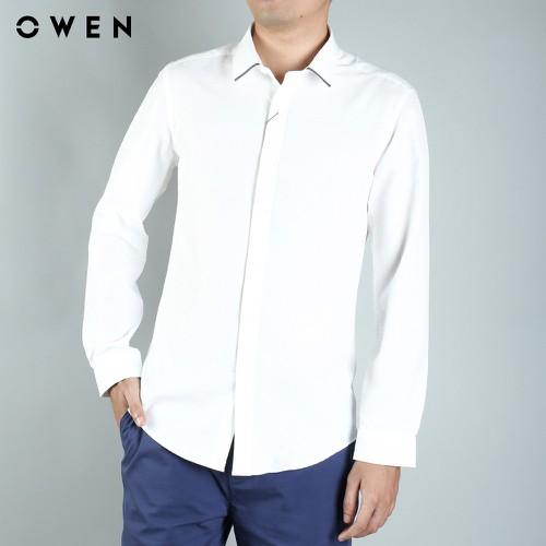 Owen - áo sơ mi dài tay slimfit - as81466d - trắng - 19315782 , 21653557 , 15_21653557 , 484200 , Owen-ao-so-mi-dai-tay-slimfit-as81466d-trang-15_21653557 , sendo.vn , Owen - áo sơ mi dài tay slimfit - as81466d - trắng