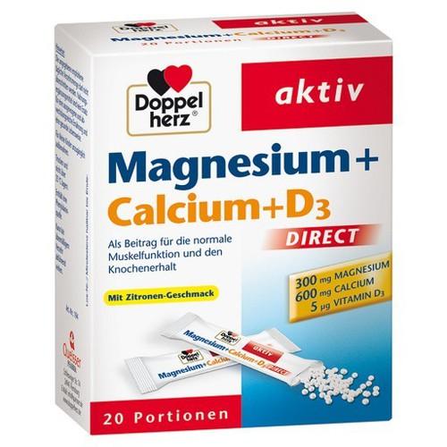 Cốm bổ sung magnesium + calcium + d3 của đức tốt cho cơ bắp, xương khớp 20 gói