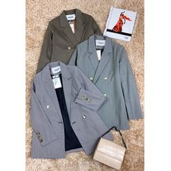 Áo khoác vest blazer nữ hàn quốc kẻ ô