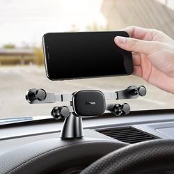 Giá đỡ điện thoại, máy tính bảng chính hãng BASEUS thiết kế ngang màn hình thông minh cho Ô tô