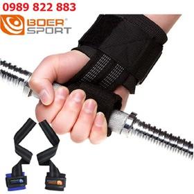 Dây kéo lưng kết hợp với cuốn cổ tay tập Gym Boer - Đai hỗ trợ cổ tay - cuốn cổ tay tập Gym