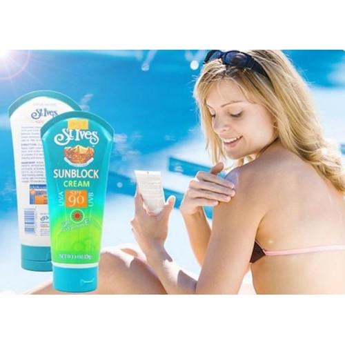 Kem chống nắng stives sunblock cream spf90