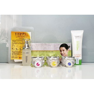 Mỹ phẩm Yiyimei 5in1, mỹ phẩm chuyên làm mờ nám và dưỡng trắng da, có bộ thửu và mặt nạ tổng 7 sản phẩm. - YIYIMEI thumbnail