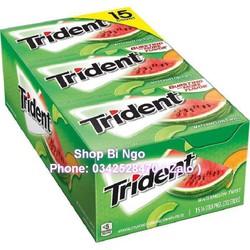 Kẹo singum Trident vị dưa hấu hộp 15 phong USA