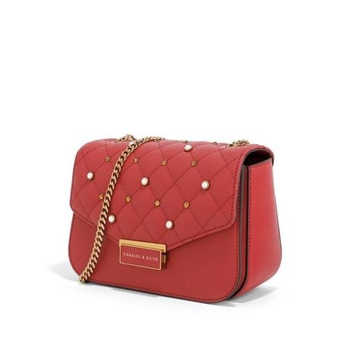 Túi c&k đeo chéo màu đỏ ck006 - hàng xuất dư