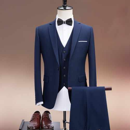Bộ vest nam + áo gile cao cấp bvn200