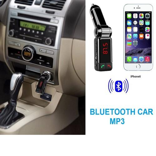 Tẩu nghe nhạc mp3 bluetooth kiêm sạc điện thoại bc-06 trên ô tô