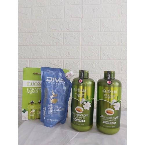 Gội xả + hấp ủ tóc diva hoa nhài luôais keratin organic phục hồi chuyên sâu - 13435920 , 21689376 , 15_21689376 , 980000 , Goi-xa-hap-u-toc-diva-hoa-nhai-luoais-keratin-organic-phuc-hoi-chuyen-sau-15_21689376 , sendo.vn , Gội xả + hấp ủ tóc diva hoa nhài luôais keratin organic phục hồi chuyên sâu