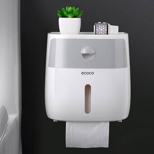 Hộp đựng giấy vệ sinh 2 ngăn ecoco nx8137