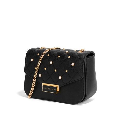 Túi c&k đeo chéo màu đen ck005 - hàng xuất dư