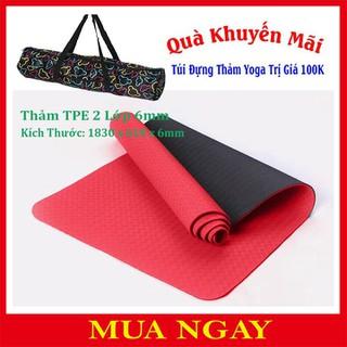 Thảm Tập Yoga - TPE 2 Lớp 6mm+ Tú thumbnail