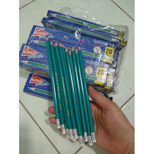 Combo 5 cây bút chì 2b, viết chì 2b có gôm siêu rẻ cho bé