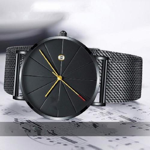 Đồng hồ nibosi 1985 dây lưới kim loại chất lượng