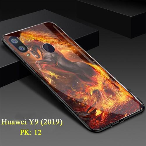 Ốp lưng huawei y9 mặt kính cường lực 3d ngựa lửa