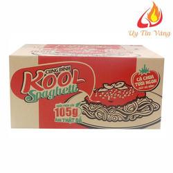 Thùng Mì Cung Đình Kool Sốt Spaghetti Hương Vị Thịt Bò Bằm Và Cà Chua dạng hộp 12 tô x 105g