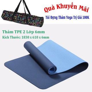 Thảm Yoga TPE - TPE 2 Lớp 6mm+Túi thumbnail