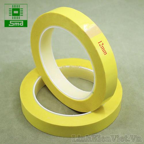Băng dính quấn biến áp xung 12mm cuộn dài 66m