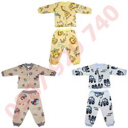 Combo gồm 3 Bộ quần áo nỉ lót bông cực đẹp cho bé trai từ 4-14 kg _BNTC - ảnh thật - bộ quần áo thu đông cho bé, bộ nỉ bông