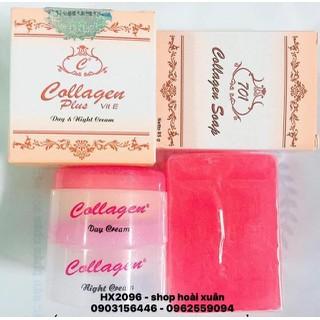 BỘ KEM COLLAGEN PLUS VIT E INDONESIA kèm soap rửa mặt - HX2096 - HX2096 thumbnail