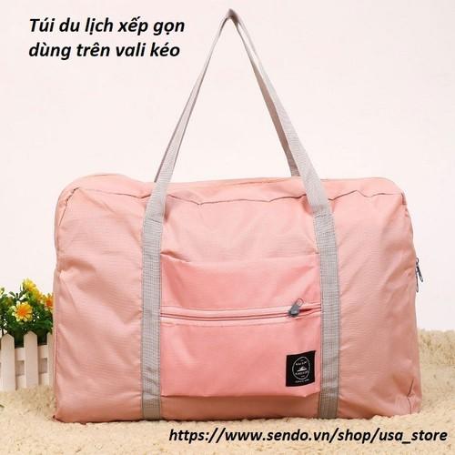 Combo 2 túi du lịch để trên vali kéo bằng vải dày dặn chống thấm tốt