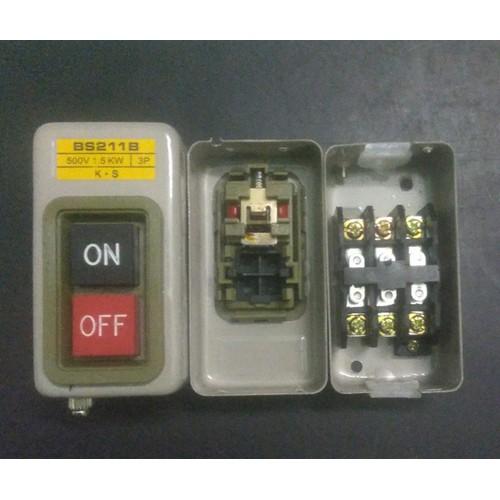 Nút nhấn on off ac 220 v hoặc 380v bs211b