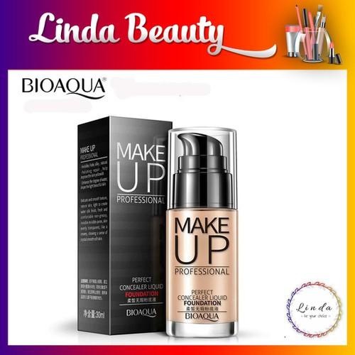 Kem nền che khuyết điểm make up professional perfect concealer liquid foundation của bioaqua 30ml