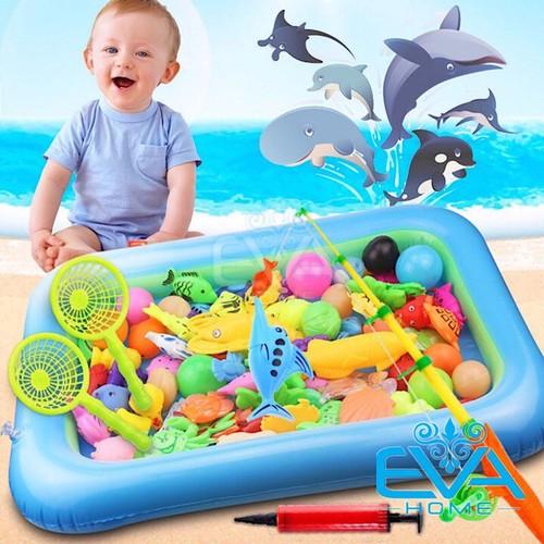 Bể phao câu cá đồ chơi cho bé kèm giỏ đựng và bơm tay - 13459948 , 21716702 , 15_21716702 , 120000 , Be-phao-cau-ca-do-choi-cho-be-kem-gio-dung-va-bom-tay-15_21716702 , sendo.vn , Bể phao câu cá đồ chơi cho bé kèm giỏ đựng và bơm tay