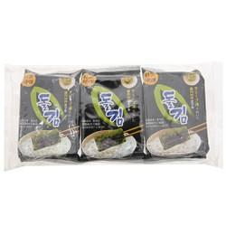 Rong biển sấy Seasoned Laver Green World 3 gói 6.5g