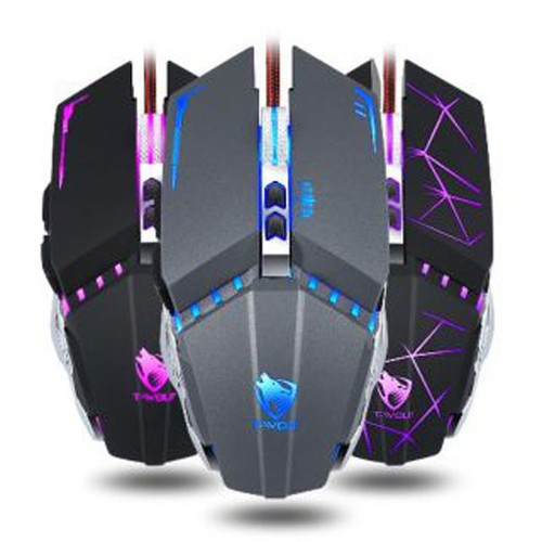 Mouse t-wolf v7 led game dây dù