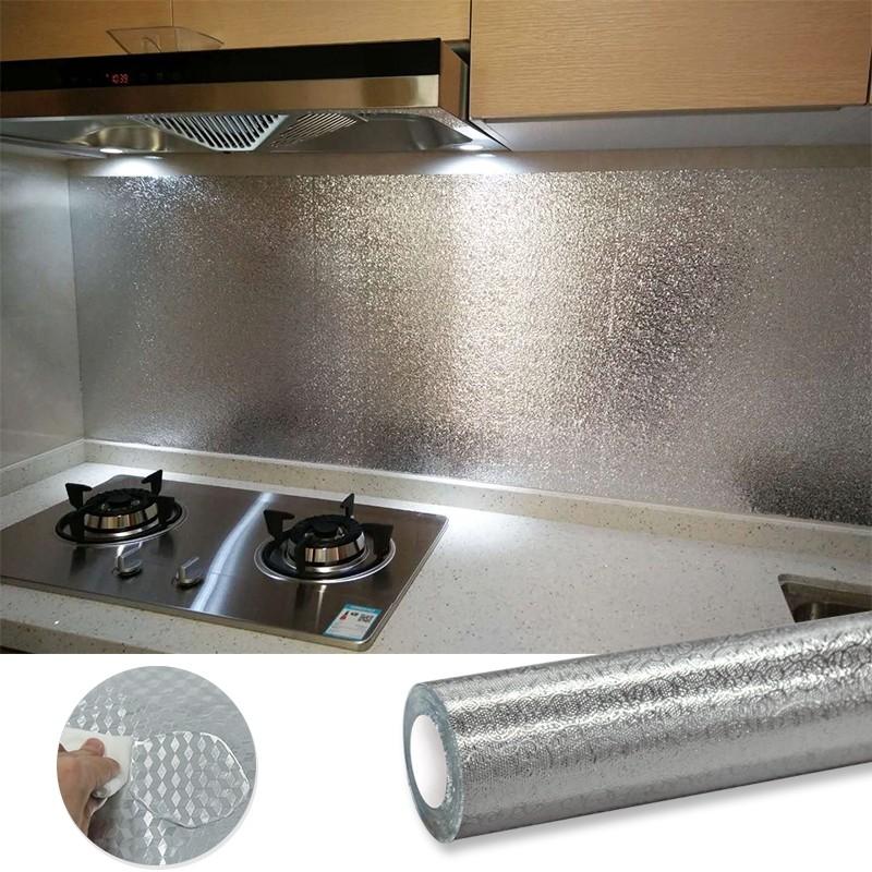 Giấy bạc dán tường nhà bếp size 60cm x 300cm - 140902 thumbnail