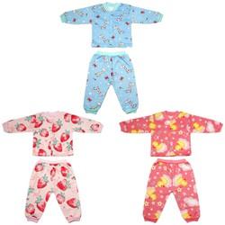 Combo gồm 3 Bộ quần áo nỉ lót bông cực đẹp cho bé gái từ 4-14 kg _BNGC - ảnh thật - bộ quần áo thu đông cho bé, bộ nỉ bông
