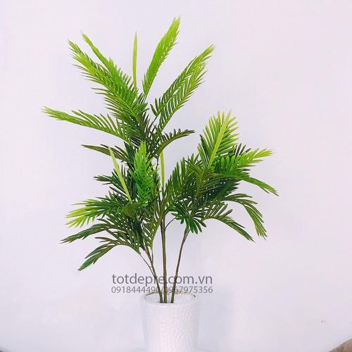 Cây dừa lá nhựa 1m4 - cây nhựa cao cấp