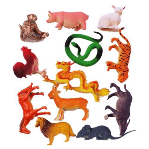 Bộ 12 mô hình động vật con giáp, đồ chơi mô hình
