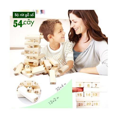 Đồ chơi rút gỗ 54 thanh loại cao - đồ chơi thông minh cho bé