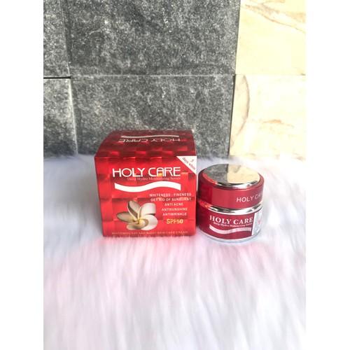 Kem dưỡng trắng tái tạo da holy care 5 tác dụng tặng kèm bông phấn khô holycare